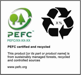 PEFC认证和回收(PEFC certified and recycled)